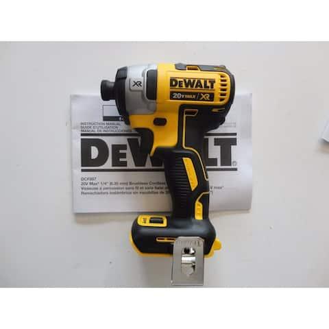 "DEWALT DCF887B 20V MAX XR Li-Ion Brushless 0.25"" 3-Speed Impact Driver - Black"