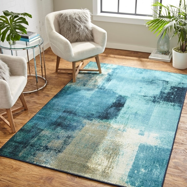 Shop Mohawk Prismatic Blurred Geo Area Rug 8 X10 On