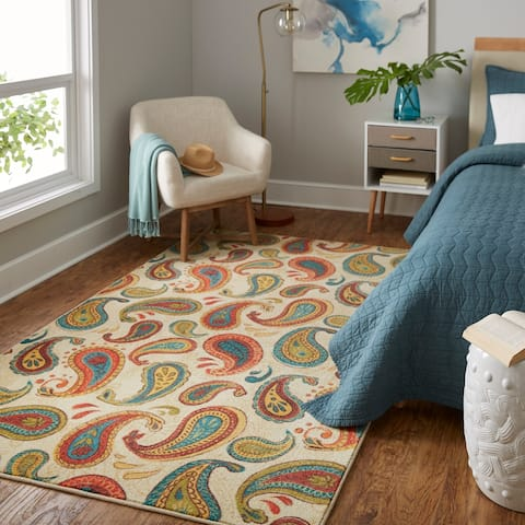 Mohawk Home Prismatic Spiced Paisley Area Rug - 8' x 10'