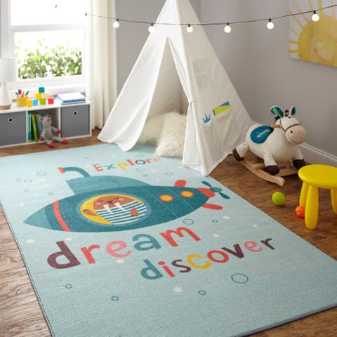 Mohawk Home Prismatic Submarine Dream Area Rug - 8' x 10'