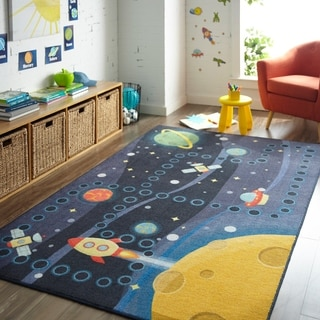 Mohawk Home Prismatic Space Rocket Area Rug - 8' x 10'