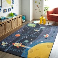 Mohawk Home Prismatic Space Rocket Area Rug - 8' x10'