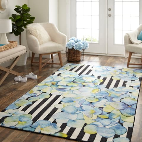 Mohawk Home Abstract Floral Stripe Area Rug