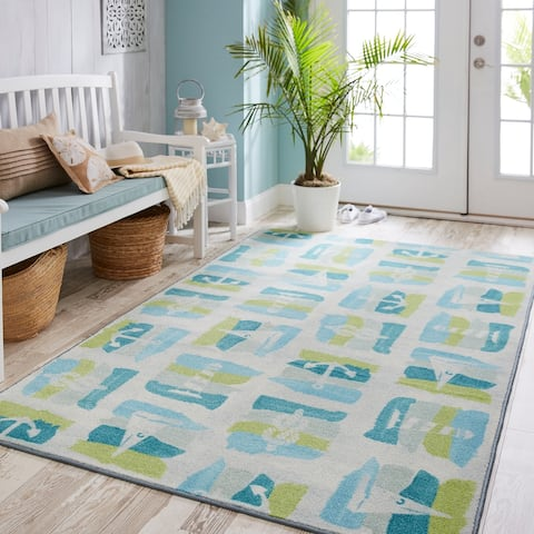 Mohawk Home Prismatic Seaside Swatches Area Rug - 8' x 10'