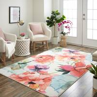 Mohawk Home Prismatic Watercolor Bouquet Area Rug - 8' x 10'