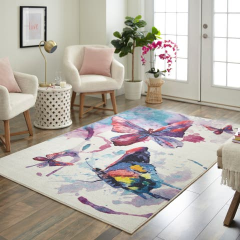 Mohawk Prismatic Watercolor Butterfli Area Rug - 8' x 10'