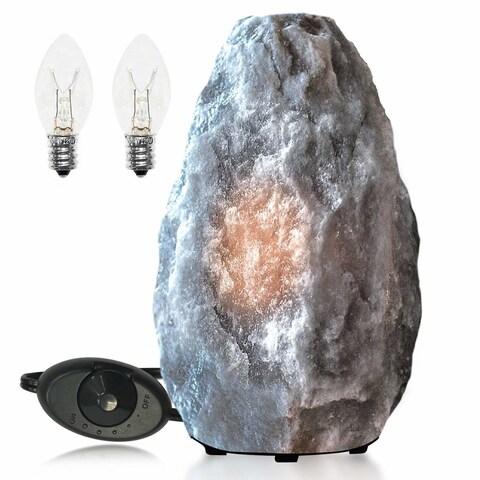 Himalayan Glow Rare Gray Salt Lamp Night Light 3-5 lbs
