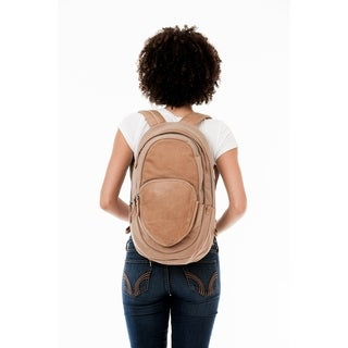 Handmade MONREAUX Juliette Leather and Canvas Backpack