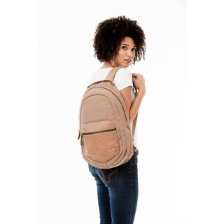 Handmade MONREAUX Evelyn Leather and Canvas Backpack