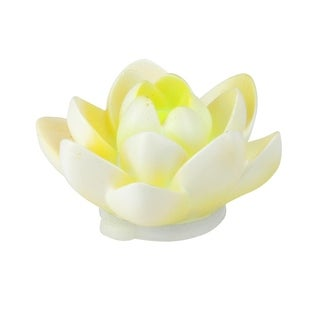 """4"""" Floating White Flower LED Color Changing Patio or Swimming Pool Light"""