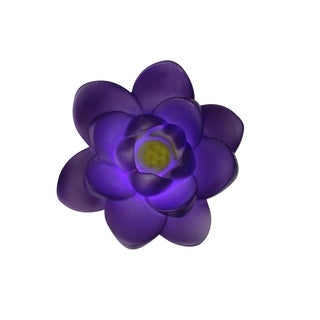 """4"""" Floating Purple Flower LED Color Changing Patio or Swimming Pool Light"""