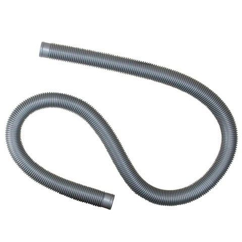 """Heavy-Duty Silver Pool Filter Connect Hose - 72"""" x 1.25"""" - 72"""