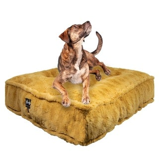 Bessie & Barnie Honeymoon Ultra Plush Faux Fur Luxury Durable Sicilian Rectangle Pet/Dog Bed