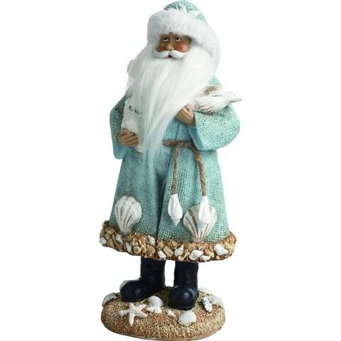 """Resin Coastal Santa Figurine - 5""""lx4""""wx12""""h"""