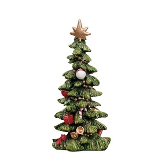"Resin Holiday Tree - 3""lx3""wx5.5""h"