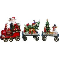 "Resin Holiday Train Set of 3 - 14.5""lx3""wx6.5""h"
