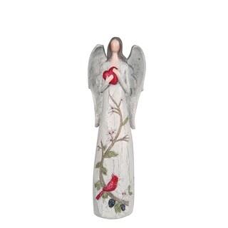 "Large Resin Rustic Angel Figurine - 4""lx2.25""wx11.5""h"