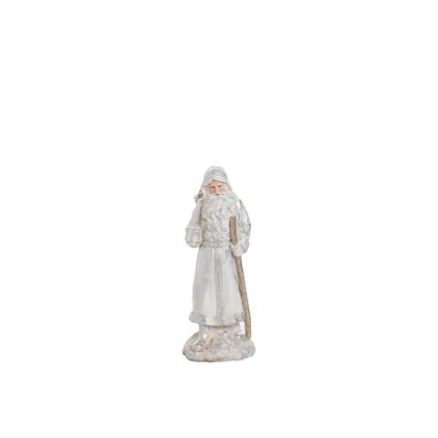 "Resin Elegant Santa Figurine - 4.5""lx4.25""wx11.75""h"