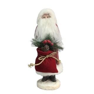 """Small Paper Pulp Santa Figurine - 4""""lx4""""wx10""""h"""