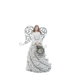 """Resin Elegant Wire Wing Angel - 8.25""""lx7.25""""wx12.5""""h"""