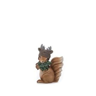 "Resin Squirrel Figurine - 5.5""lx3.75""wx8""h"