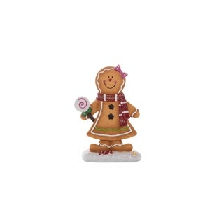 "Resin Gingerbread Figurine - 6""lx3""wx9""h"