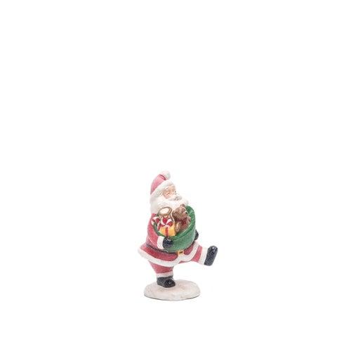 """Paper Pulp Glitter Santa Figurine - 5.25""""lx5.25""""wx8.25""""h"""
