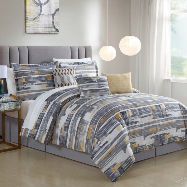 Attlee Digital Stripe 7 Piece Comforter Set