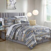 Lemon & Spice Attlee Digital Stripe 7 Piece Comforter Set