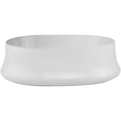 V2015 Ticor 20.75 in. Nautilus Series Ceramic Oval Vessel Sink