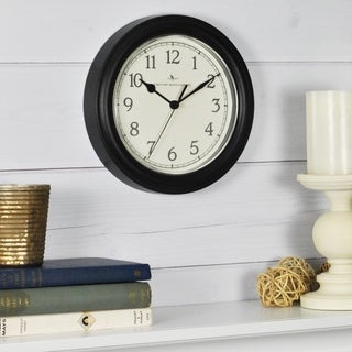 FirsTime & Co® Black Essential Wall Clock