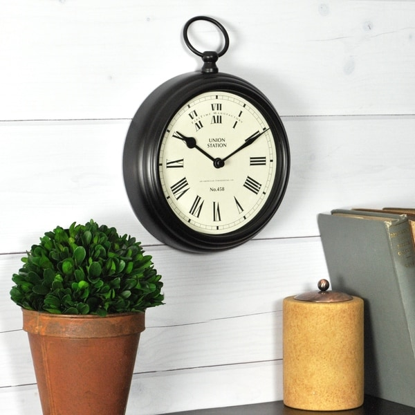 FirsTime & Co® Station Pocket Clock