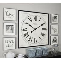 "FirsTime & Co® Love Frame Gallery - 20"" clock and 6"" plaques"