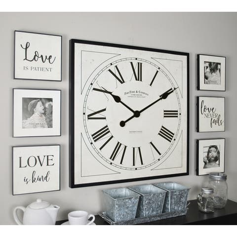 """FirsTime & Co® Love Frame Gallery - 20"""" clock and 6"""" plaques"""