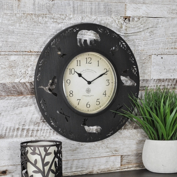 FirsTime & Co® Lodge Collection Wall Clock
