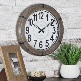 FirsTime & Co Modern Rustic Wall Clock