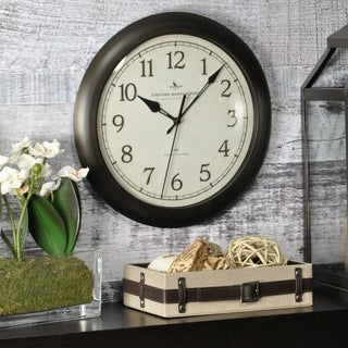 FirsTime & Co® Bronze Slim Wall Clock - 11""