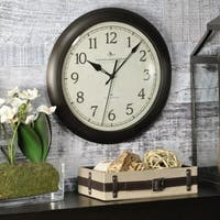 "FirsTime & Co® Bronze Slim Wall Clock - 11"""