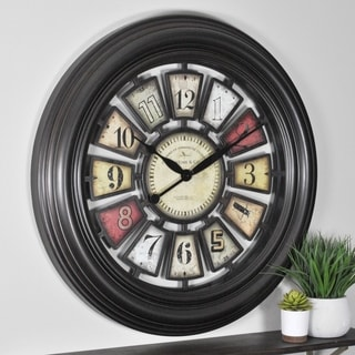 FirsTime & Co® Industrial Chic Wall Clock