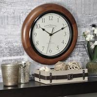 "FirsTime & Co® Walnut Round Wall Clock - 11"""