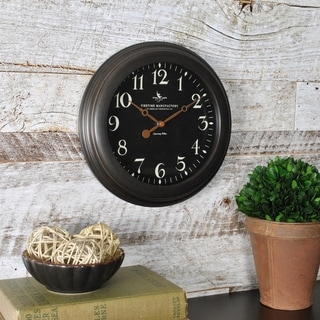 FirsTime & Co® Black Onyx Wall Clock - 8.5""