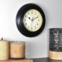 FirsTime & Co® Bronze Plastic Wall Clock