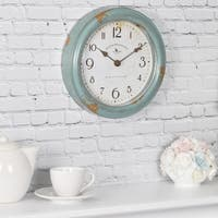 FirsTime & Co® Teal Patina Wall Clock - 8.5""