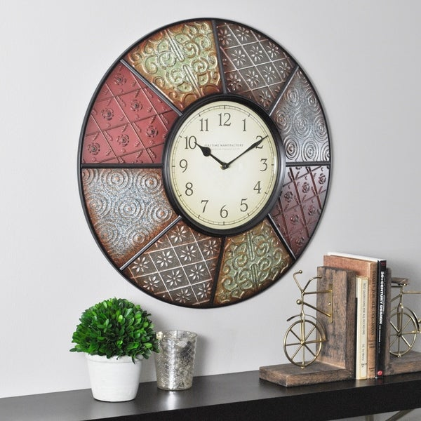"""FirsTime & Co® Patchwork Wall Clock - 20.5"""""""