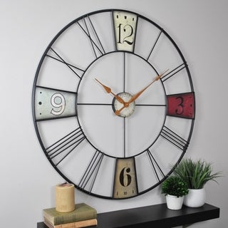 FirsTime & Co® Vibrant Plaques Wall Clock - 36""