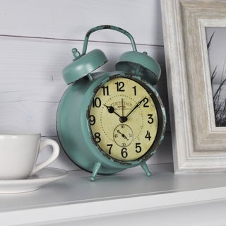 "FirsTime & Co® Teal Double Bell Alarm Clock - 5""H x 7""W"