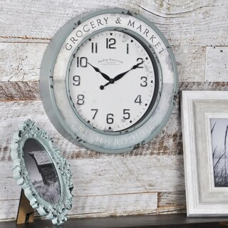 FirsTime & Co® Vintage Grocery Wall Clock