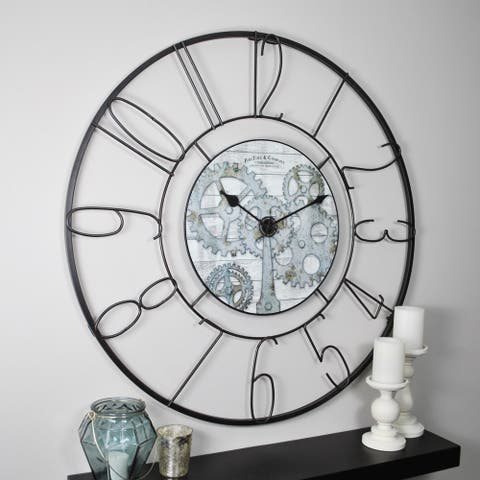 FirsTime & Co® Fulshaw Gears Wall Clock