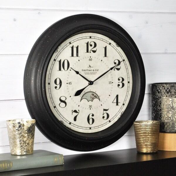 "FirsTime & Co® Luna Wall Clock - 15.5"""