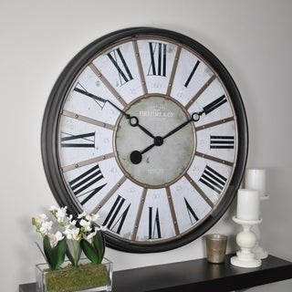 FirsTime & Co® Roman Bronze Wall Clock
